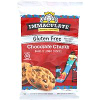 Immaculate Bakery Baking Chocolate Chunk Cookie Dough Gluten Free Cookies Non-GMO Bakes 2 Cookies
