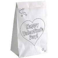 Hygloss Valentines Day Bags, pk of 25