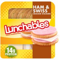 Lunchables Ham & Swiss with Crackers Convenience Meal