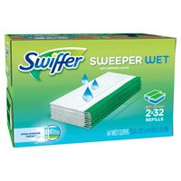 Swiffer Sweeper Wet Cloth Refill, 2 x 32 ct