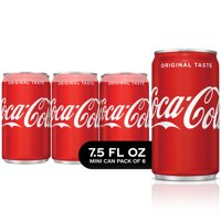 Coca-Cola Mini Can Soda, 7.5 Fl Oz, 6 Count