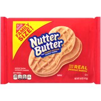Nutter Butter Family Size Peanut Butter Sandwich Cookies, 16 oz