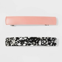 Metal Barrette, Solid, Metal Foil - Wild Fable™ Pale Pink