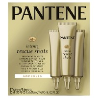 Pantene Pro-V Intense Rescue Shots Hair Ampoules for Intensive Repair of Damaged Hair - 0.5 fl oz/3pk