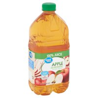 Great Value No Added Sweeteners 100% Apple Juice, 64 Fl. Oz.