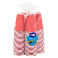 Great Value Plastic Party Cups, 18 oz, 120 Count