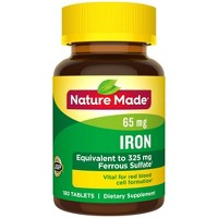 Nature Made Iron 65 mg (from Ferrous Sulfate) Tablets - 180ct