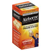 Airborne® Citrus Chewable Tablets - 1000mg of Vitamin C - Immune Support Supplement (Packaging May Vary)