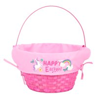 """Way to Celebrate 10"""" Easter Basket with Liner- Hot Pink"""