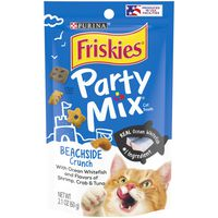 Purina Friskies Made in USA Facilities Cat Treats, Party Mix Beachside Crunch
