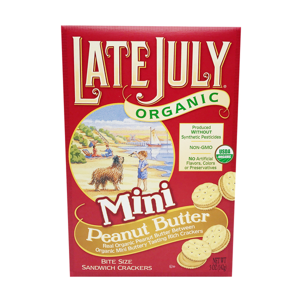 Organic Mini Peanut Butter Bite Size Sandwich Crackers, 5 oz