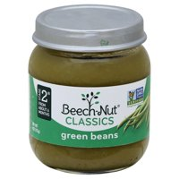 Beech-Nut Baby Food Jar, Stage 2, Green Beans, 4 oz