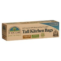 If You Care Recycled Tall Kitchen Drawstring Trash Bags - 13 Gallon - 12ct