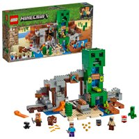 LEGO Minecraft The Creeper Mine 21155 Toy Rail Track Building Set (830 Pieces)