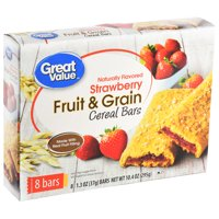 Great Value Fruit & Grain Cereal Bars, Strawberry, 10.4 oz, 8 Count