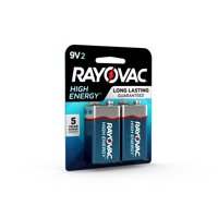 Rayovac High Energy Alkaline, 9V Batteries, 2 Count
