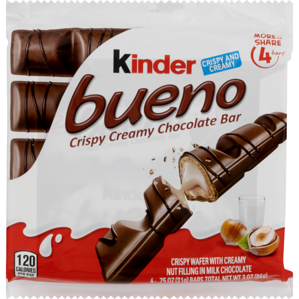 Kinder Chocolate Bar, Crispy Creamy, Bueno, Wrapper