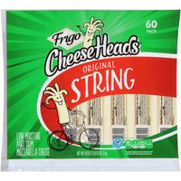 Frigo Cheese Heads Original Mozzarella String Cheese, 60 ct