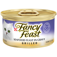 Fancy Feast Gravy Wet Cat Food, Grilled Seafood Feast in Gravy, 3 oz. Can