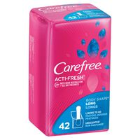 Carefree Acti-Fresh Long Pantiliners To Go, Unscented