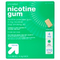 Nicotine 4mg Gum Stop Smoking Aid - Mint Flavor - 170ct - Up&Up™