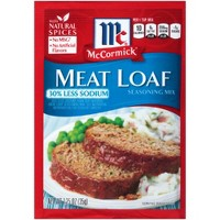 McCormick Meat Loaf Seasoning Mix 30% Less Sodium 1.25 oz