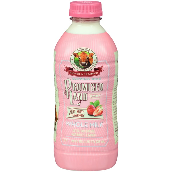 Promised Land Dairy Very Berry Strawberry Whole Milk