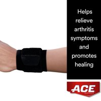 ACE Brand Wrap Around Wrist Support, Helps Relieve Arthritis Symptoms, Breathable, Adjustable, Black, 1/Pack