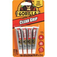 Gorilla Clear Grip Contact Adhesive Tubes, 5 g, 4 Count
