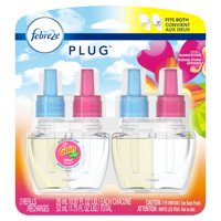 Febreze Plug Air Freshener Scented Oil Refill, Island Fresh, 2 count