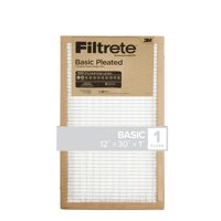 Filtrete 12x30x1, Filtrete Basic Pleated HVAC Furnace Air Filter, 100 MPR, 1 Filter