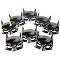 Batman Birthday Party Paper Costume Masks, 8ct