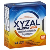 Xyzal Allergy, 24 Hr, Original Prescription Strength, 5 mg, Tablets