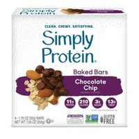 SimplyProtein Baked Bars - Chocolate Chip - 4ct