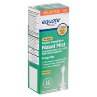 Equate No Drip Severe Congestion Nasal Mist, 1 fl oz