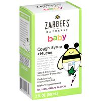 Zarbee's Naturals Cough Syrup + Mucus, Natural Grape Flavor
