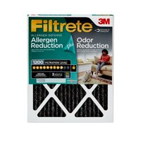 Filtrete 12x12x1, Allergen Plus Odor Reduction HVAC Furnace Air Filter, 1200 MPR, 1 Filter