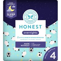 The Honest Company Diapers, Overnights, Sleepy Sheep, 4 (22-37 Pounds)
