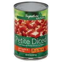Signature Kitchens Tomatoes, Petite Diced, with Garlic & Olive Oil