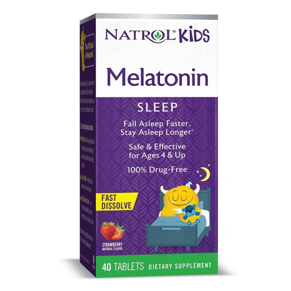 Natrol Kids Melatonin Fast Dissolve Tablets - Strawberry - 40ct