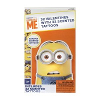 Minions 32ct Valentines With Banana Scented Tattoos