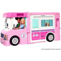 Barbie 3-In-1 Dreamcamper Vehicle With Pool, Truck, Boat And 50 Accessories