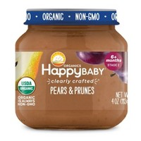 Happy Family Clearly Crafted Jar Pears & Prunes - 4oz