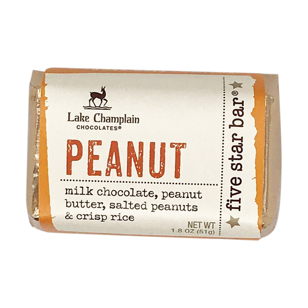 Lake champlain chocolates 5 Star Peanut Bar, 1.8 oz