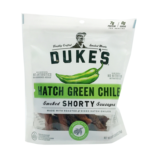 Duke's Hatch Green Chile Smoked `Shorty` Sausages, 4 oz