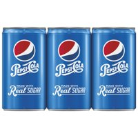 Pepsi with Real Sugar Soda, 7.5 Fl. Oz., 6 Count