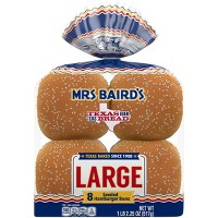 Mrs. Baird's Large Seeded Hamburger Buns - 8ct/18.25oz
