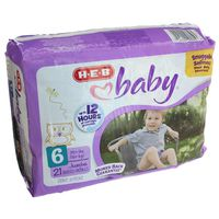 H-E-B Size 6 Baby Diapers Jumbo Pack
