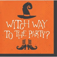 48ct Witch Way to the Party Halloween Beverage Napkins