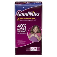 GoodNites Bedtime Bedwetting Underwear for Girls, L-XL, 11 Ct